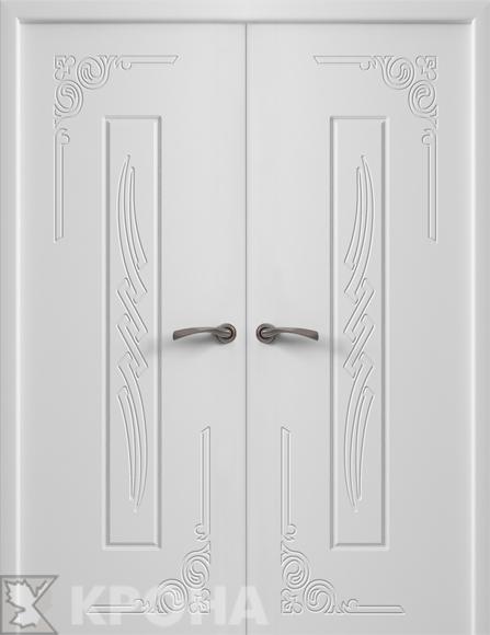 Двери в цвете орех в интерьере